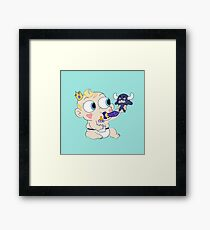 Baby star vs the forces of evil Framed Print