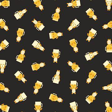 Blonde Panda Beer pattern (black) by animinimal