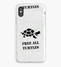 Free all turtles map iPhone Case