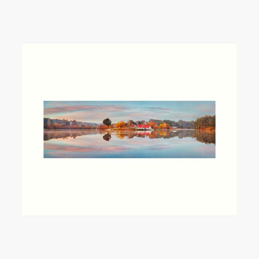 Lake Daylesford Boat House, Victoria, Australia Art Print