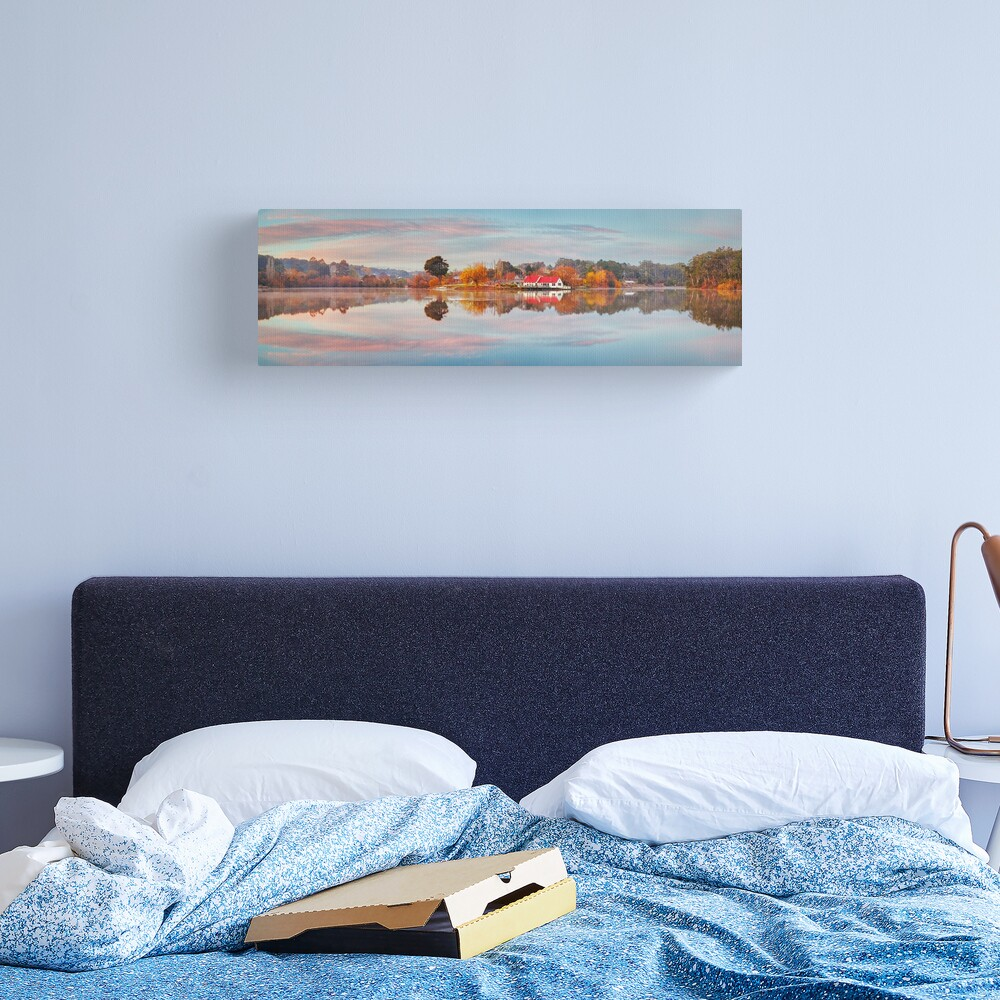 Lake Daylesford Boat House, Victoria, Australia Canvas Print