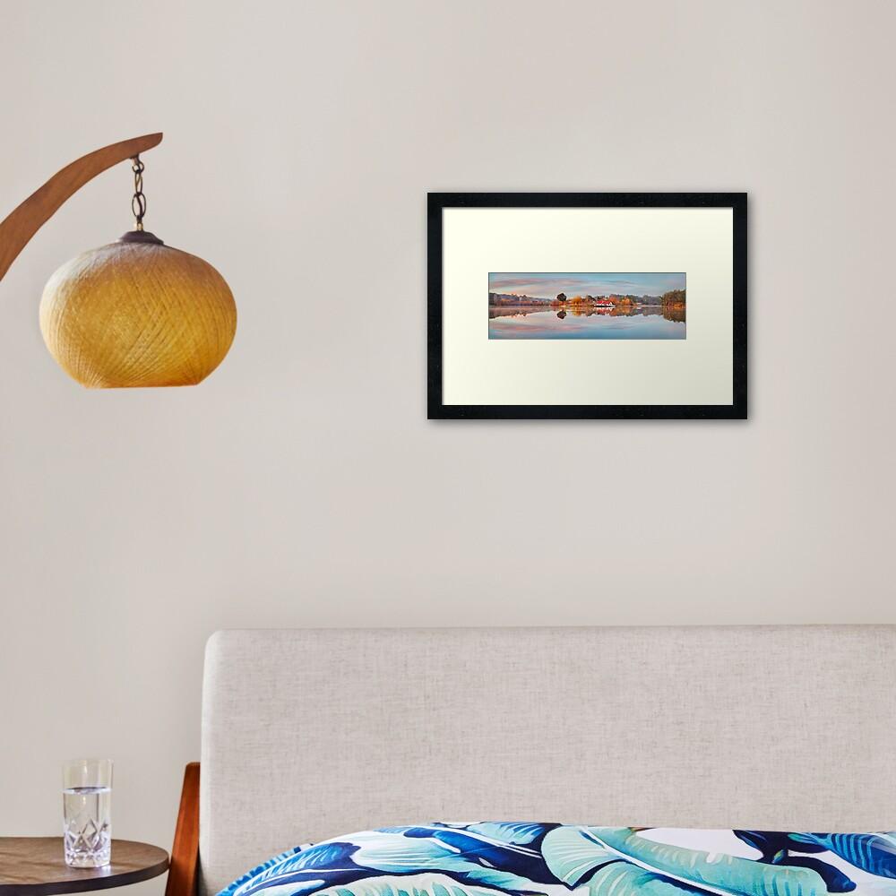 Lake Daylesford Boat House, Victoria, Australia Framed Art Print
