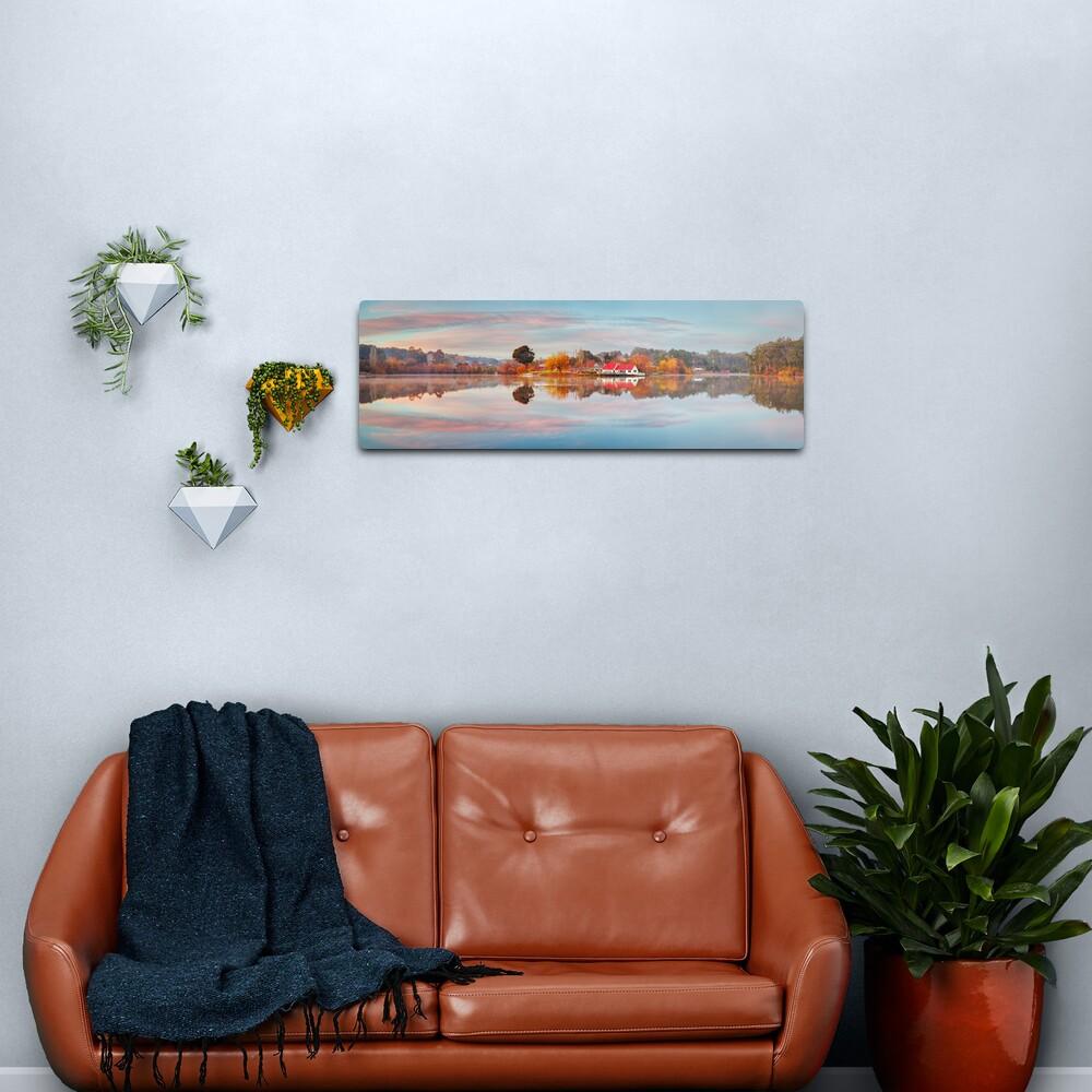 Lake Daylesford Boat House, Victoria, Australia Metal Print