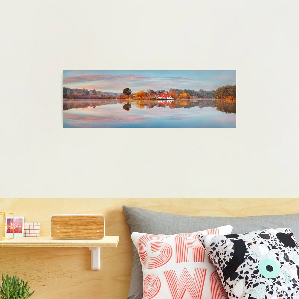 Lake Daylesford Boat House, Victoria, Australia Photographic Print