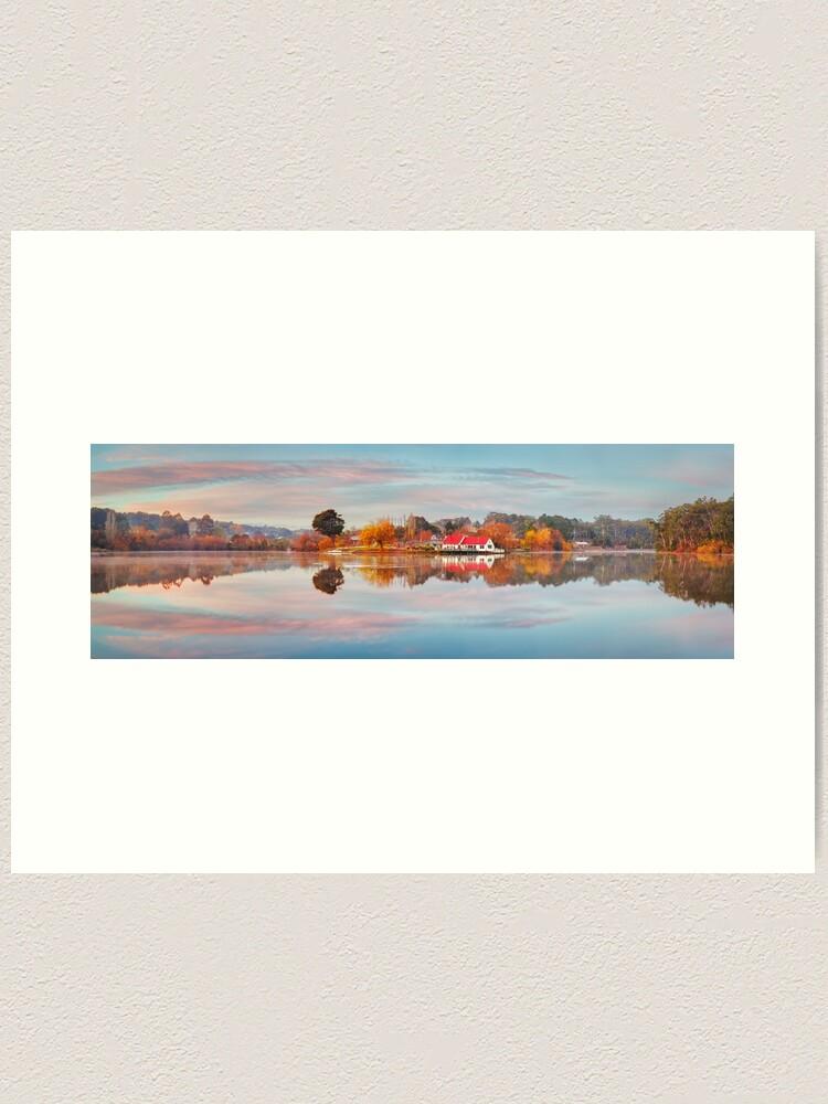 Alternate view of Lake Daylesford Boat House, Victoria, Australia Art Print