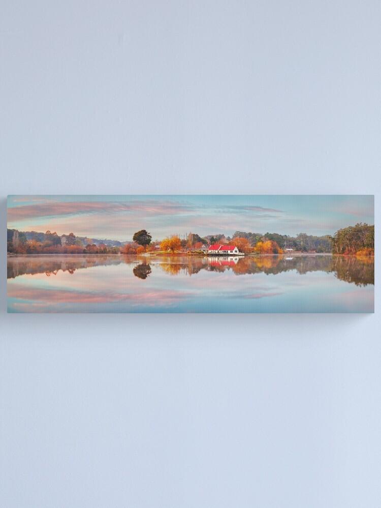Alternate view of Lake Daylesford Boat House, Victoria, Australia Canvas Print