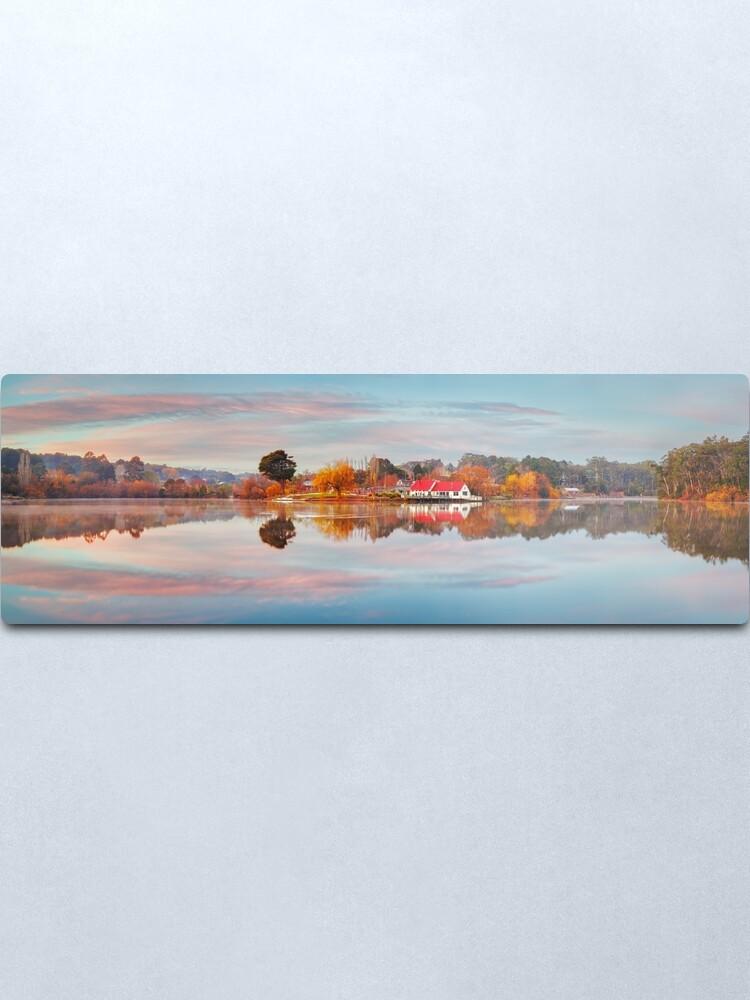 Alternate view of Lake Daylesford Boat House, Victoria, Australia Metal Print