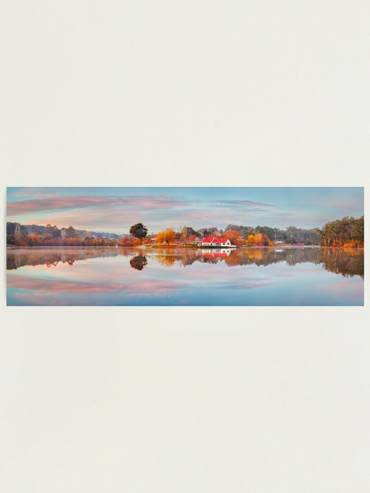 Alternate view of Lake Daylesford Boat House, Victoria, Australia Photographic Print