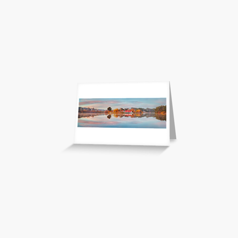Lake Daylesford Boat House, Victoria, Australia Greeting Card