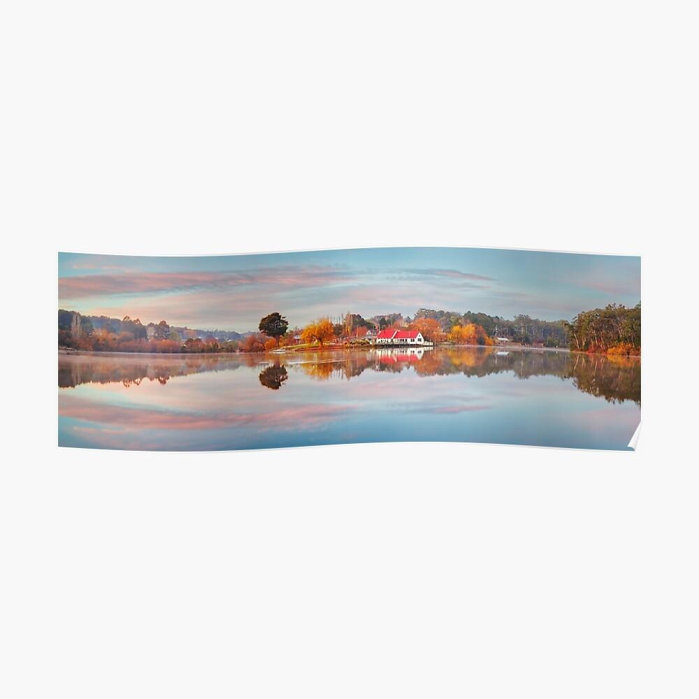 Lake Daylesford Boat House, Victoria, Australia Poster