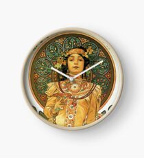 HD. Moët & Chandon, Alphonse Mucha (1898) High Definition Clock