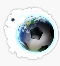 Soccer planet Earth Sticker