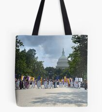 National Woman's Party marching in Washington D.C. May 21, 1922. Tote Bag