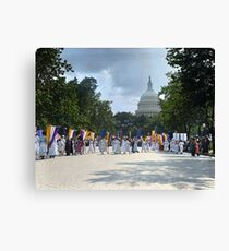 National Woman's Party marching in Washington D.C. May 21, 1922. Canvas Print