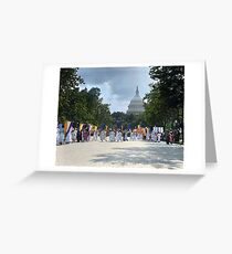 National Woman's Party marching in Washington D.C. May 21, 1922. Greeting Card