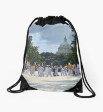 National Woman's Party marching in Washington D.C. May 21, 1922. Drawstring Bag