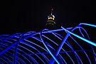 Lighting Up the Blue Steel Bridge by Jen Waltmon
