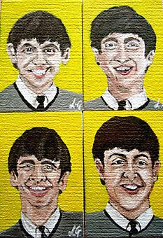 """""""The Fab Four"""" by LJG  Art & Illustration"""