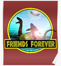 Loch Ness Monster, Bigfoot and Mothman; Friends Forever Poster