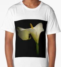 Classic White Calla Lily Long T-Shirt