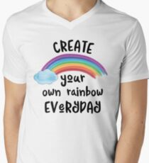 Create Your Own Rainbow Everyday Men's V-Neck T-Shirt