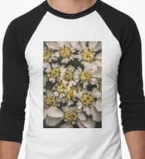 There's a beautiful turtle under all this decoration. Men's Baseball ¾ T-Shirt