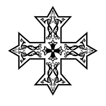 Cross, Coptic Cross by TOMSREDBUBBLE