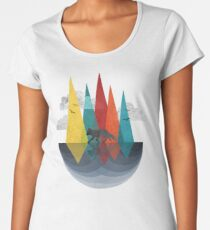 The Geometry Of Nature Women's Premium T-Shirt