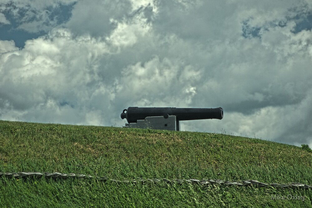 Cannon on the Ramparts, Fort Wellington, Prescott, Ontario by Mike Oxley