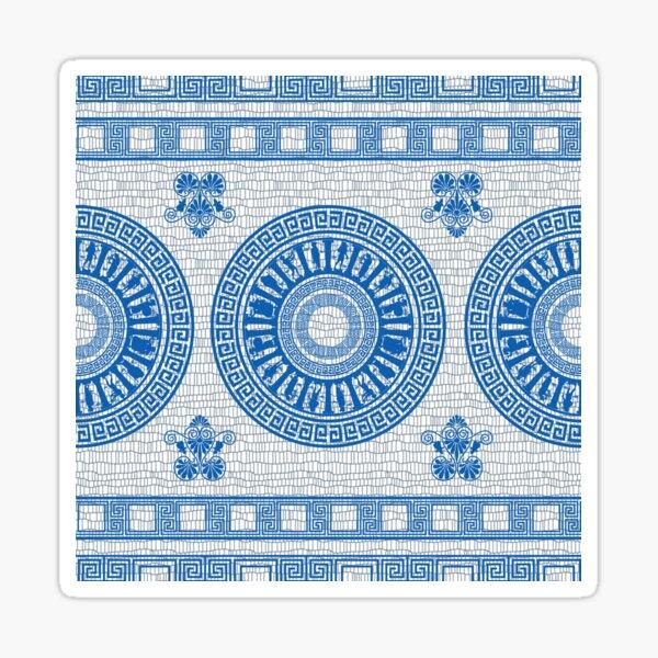 Greek Gods Pattern (blue version) Sticker