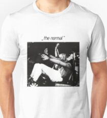 The Normal warm leatherette 80s cult vinyl post punk black and white Unisex T-Shirt