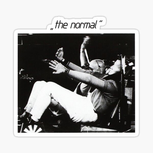 The Normal warm leatherette 80s cult vinyl post punk black and white Sticker