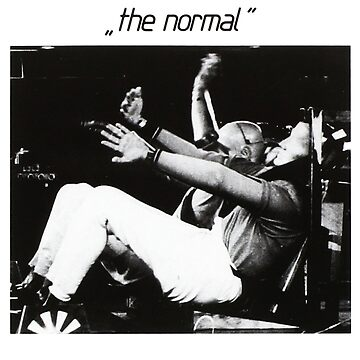 The Normal warm leatherette 80s cult vinyl post punk black and white by Alessandra-C