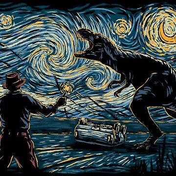Jurassic Night by hootbrush