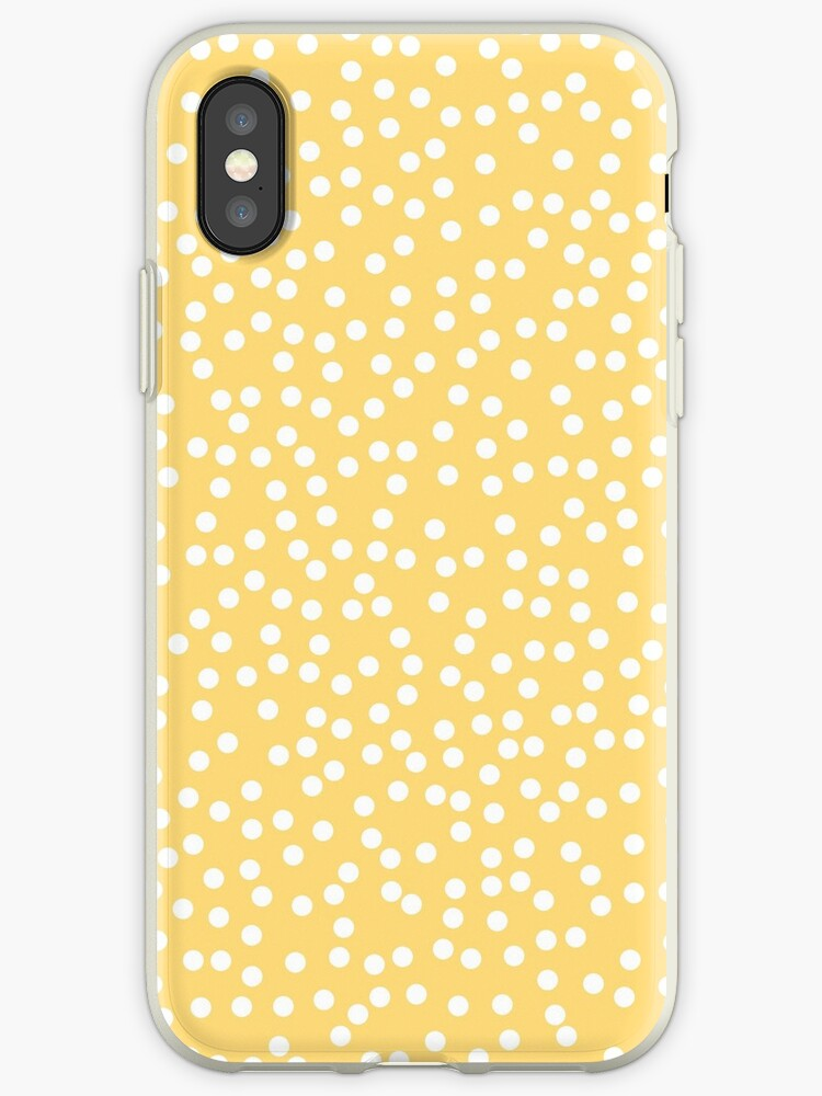 e195d39a215ecb Simple Yellow and White Polka Dots