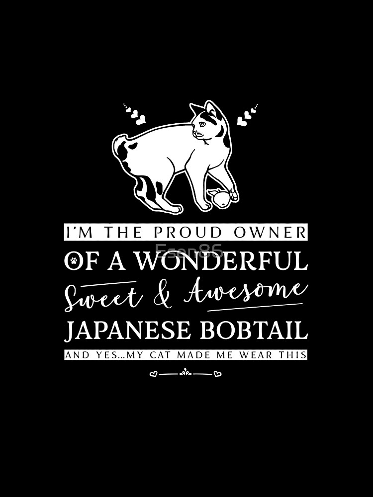 Funny Cat Japanese Bobtail Gift Idea by Esen86