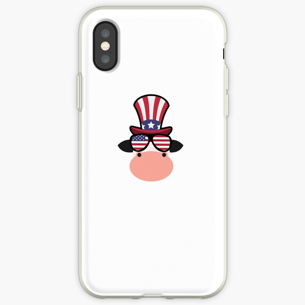 Cow Happy 4th Of July Funda y vinilo para iPhone