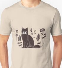 Cat lithography Unisex T-Shirt
