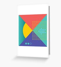 Memphis Abstract/Geometric Greeting Card