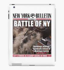 'Battle of New York' Newspaper cover  iPad Case/Skin
