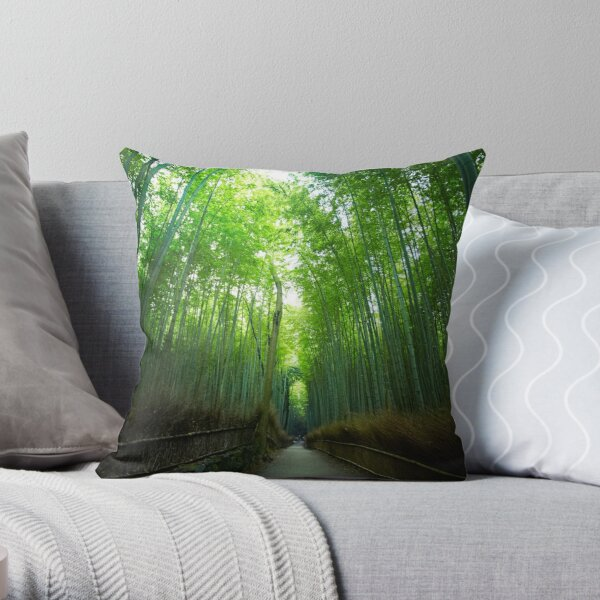Bamboo Forrest Throw Pillow