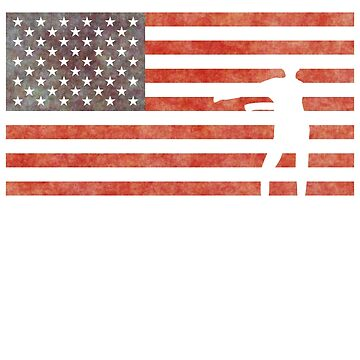 Floss USA Flossing Dance US Flag t shirt by PinkDesigns