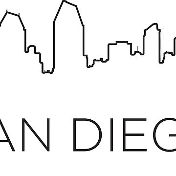 San Diego city outline by maximgertsen