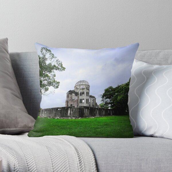 Hiroshima A-Bomb Dome Throw Pillow