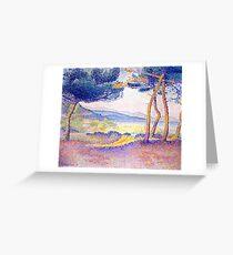 Henri-Edmond Cross Pines Along the Shore Greeting Card