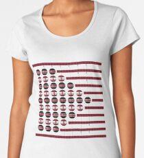 abstrakte Kunst Premium Rundhals-Shirt
