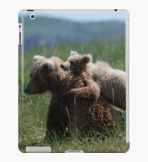 Alaska Grizzly Mother And A Cub In Katmai National Park #RedBubble  iPad Case/Skin