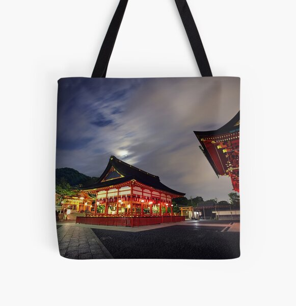 Kyoto Temple All Over Print Tote Bag
