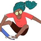Girl on skateboard by ClaudiaFlandoli