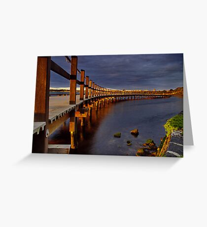 """""""Walk Over The Water"""" Greeting Card"""